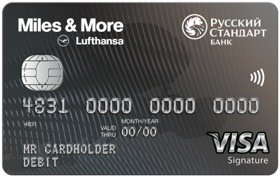 Банковская карта - Miles & More Visa Signature Debit Card - Русский Стандарт Банк