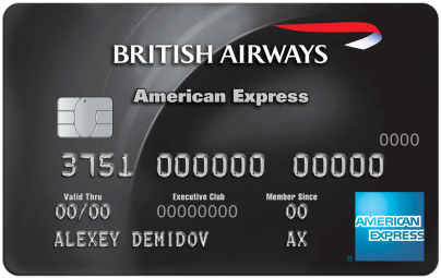 Банковская карта - British Airways American Express® Premium Card - Русский Стандарт Банк